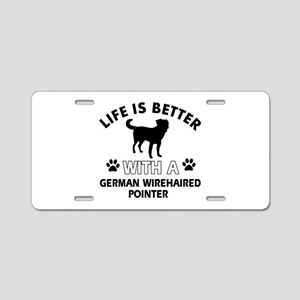 German Wirehaired Pointer dog gear Aluminum Licens